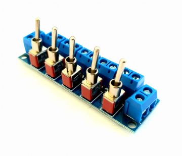 RKswitch1 V2 Toggle Switch Module for Model Railway  - Constructed with Smooth Toggles